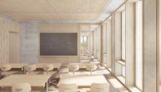 PROJEKTE / KASTKAEPPELI ARCHITEKTEN BERN BASEL Classroom Architecture, University Architecture, Education Architecture, School Architecture, Bern, Facade Design, House Design, Class Design, Classroom Design