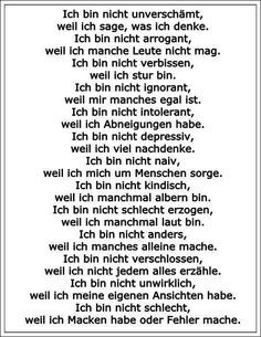 Sollte man sich vielleicht öfter mal ins Gedächtnis rufen Words Quotes, Wise Words, Sayings, Positive Life, Positive Quotes, Best Quotes, Funny Quotes, Self Appreciation, German Quotes