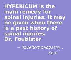 Spinal injuries ~ Hypericum