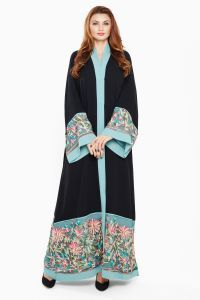 Nukhbaa Multi Color Casual Abaya For Women, price, review and buy in Dubai, Abu Dhabi and rest of United Arab Emirates  | Souq.com