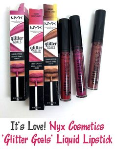 Need to kick up your lipstick a little? Check out the new Glitter Goals Liquid Lipstick from You'll thank me later. Makeup Blog, Makeup Dupes, Love Makeup, Beauty Makeup, Drugstore Beauty, Makeup Ideas, Best Beauty Tips, Beauty Hacks, Beauty News