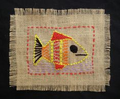"Burlap ""Sampler"" – Stitching Project 