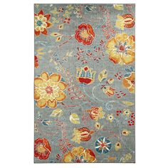 Cool and warm hues meet to create a rug that is an explosion of color. Printed on the machines that make one of the world
