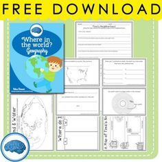 """""""Where in the World?"""" A free mini-geography unit for first grade from Selma Dawani on TeachersNotebook.com -  (13 pages)  - A great packet with activities to help kids understand where they live in relation to the universe!"""