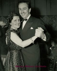 Walt and Lillian Disney dance the night away at the Beverly Hills Hotel.