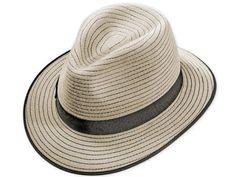 Velluto Nero Qualität, Dekoration mit kontrastierenden Nähten, mittelgroße Krempe, zweifarbiges Ripsband, Metallabzeichen Elegant, Panama Hat, Hats, Fashion, Felt Hat, Badge, Dekoration, Classy, Moda