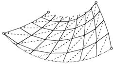 folding diagram for conee