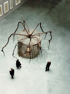 """night-man-jon-gasca: """" The spider has made a cage, she takes there the prisoners or she keeps her kids safe in there? You never know with Louise Bourgeois. Photo: Jon Gasca """""""