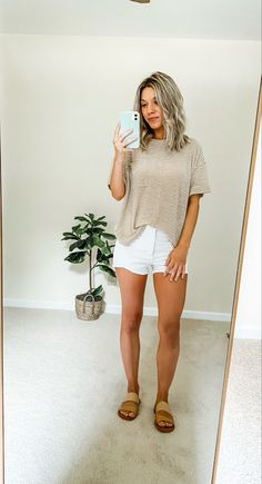 Simple Casual Outfits, Sporty Outfits, Cute Summer Outfits, Spring Outfits, Cute Outfits, Fashion Outfits, Outfit Summer, Womens Fashion Casual Summer, Spring Summer Fashion