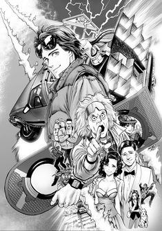 Back To The Future Artwork by Murata (OPM) – Animated Cartoons