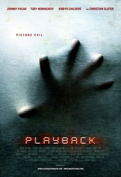 Scary poster for the movie Playback.