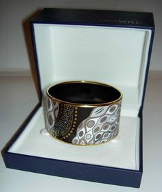 Authentic FREY WILLE Gustav Klimt - Nixe YG Diva Wide Bangle Brand New Box Large