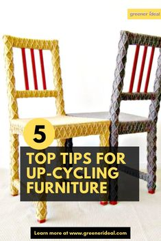 Transform any piece of furniture in your home with our informative guide. Look no further here are our top 5 tips for your next furniture upcycling project.  #DIY #UpCycling #Reuse #DIYproject #Furniture #GoGreen #ecofriendly #GreenLiving #UpCyclingTips #Guide #UpcyclingGuide