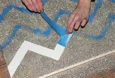 Penny Pincher Fashion: DIY Glitter Chevron Art  Messy