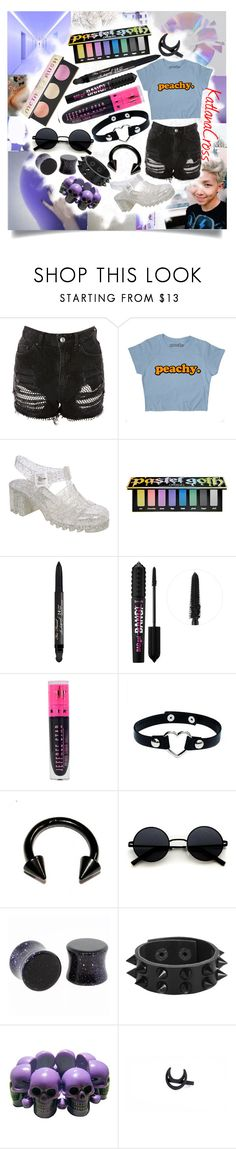 """""""""""Tonight I feel like being a loner, don't call me a loser; my nights now over"""""""" by katlanacross ❤ liked on Polyvore featuring Topshop, Pilot, Kat Von D, Too Faced Cosmetics, Benefit, Jeffree Star, George J. Love, Kreepsville 666, contest and pastel"""