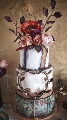 Boho Beauty by Sweet Creations by Gamze  - http://cakesdecor.com/cakes/296322-boho-beauty