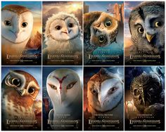 Movie Poster - guardians-of-gahoole: beautiful CG film from a great little series of middle reader books