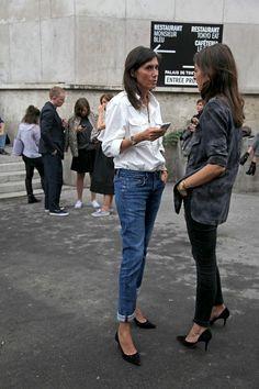 Emmanuelle Alt and Capucine Safyurtlu #style #fashion #streetstyle