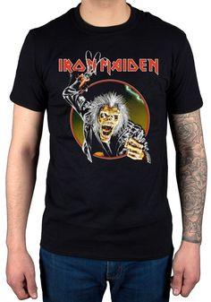 Gildan Iron Maiden Eddie Hook T-Shirt Album Heavy Metal Band Rock. Yesterday's price: US $14.98 (12.40 EUR). Today's price: US $13.18 (10.91 EUR). Discount: 12%.