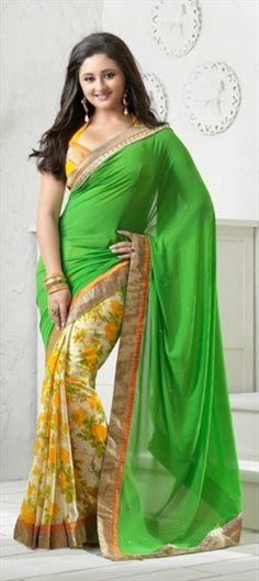 113180: #RashmiDesai #saree #collection #trends2013