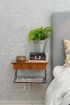 Harmoniskt sovrum mot lugn innergård
