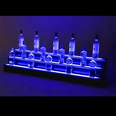 Try this in your bar, home bar, restaurant or store. Simply plug it in and see the transformation of your products!       3 Step LED Light Shelf Tier (2-8ft length)     Programmable Wireless Remote     3A Power Supply for each shelf (8ft length)