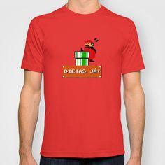 Dietas Já! T-shirt by Matheus Lopes - $18.00