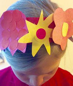 Frida Kahlo inspired paper flower headband for kids.