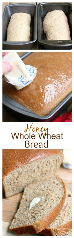 Honey Whole Wheat Bread--a little scoop of Greek Yogurt keeps it super moist! Recipe on MyRecipeMagic.com