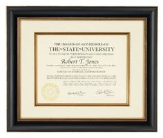 Amazon.com: Artcare Tuscan Collection Black and Gold Archival Quality 12 by 15-Inch Wood Document Frame Matted to 8-1/2 by 11-Inch: Home & Kitchen