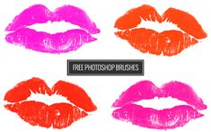 Free Love + Kisses Photoshop brushes from Creature Comforts Blog