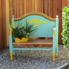Bench Made From Old Found Bed Frame.