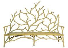Large Elwynn Bench design by Currey & Company | BURKE DECOR