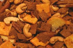 Texas Trash Snack Mix otherwise known as chex mix | food ...
