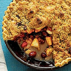 22 Thanksgiving desserts   Apple-Cranberry-Currant Pie with French Topping   Sunset.com