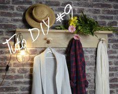 TUTO #DIY9 PORTEMANTEAU - Chêne Décors. Une pièce unique pour votre entrée qui ne laissera plus rien trainer. En un tour de main réalisez ce portemanteau qui lie utilité et beauté.