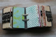 a rolodex as a journal ! I need to make one of these.... I have been wanting to do something with a rolodex !