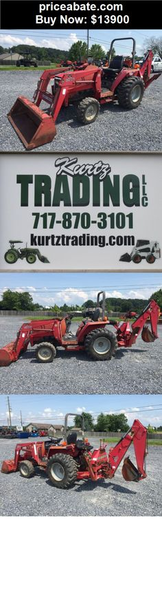 Heavy-Equipments: Massey Ferguson 1250 4x4 Compact Tractor Loader Backhoe! - BUY IT NOW ONLY $13900