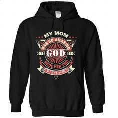 God made my mom two Angels - #slouchy tee #tshirt upcycle. GET YOURS => https://www.sunfrog.com/Faith/God-made-my-mom-two-Angels-9769-Black-39980938-Hoodie.html?68278