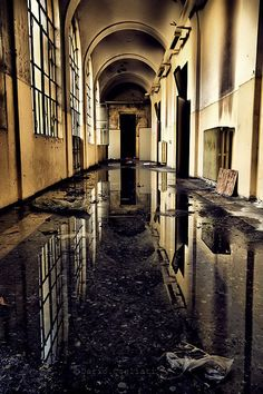 Abandoned building water logged