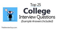 Top 25 College Interview Questions (Example Answers Included)