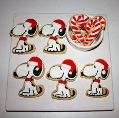 Santa snoopy cookies