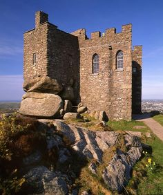The 14th century Carn Brea Castle in Cornwall, UK. Now a restaurant