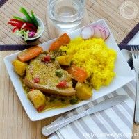 """Pork Colombo """" or """"Porc Colombo"""" is the name for a Caribbean origin pork curry. This recipe uses spices sourced from Sri Lanka & India to the Caribbean during the British colonial period."""