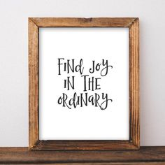 Motivational Wall Art, Find Joy in the Ordinary office decor typography inspirational wall decor quote printable dorm home printable cubicle - Gracie Lou Printables Framed Quotes, Wall Decor Quotes, Office Wall Art, Office Decor, Printable Quotes, Printable Wall Art, Motivational Wall Art, Online Printing Companies, Inspiration Wall