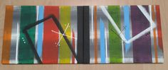 An 80x30cm canvas with different kinds of colored stripes