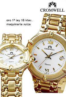 f1de74e1b8d3 Relojes de oro de 18 Kilates para señora y caballero con maquinaria suiza y  números romanos