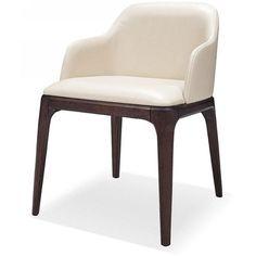 Modrest Margot - Modern Cream Eco-Leather Dining Chair