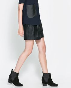 ZARA - WOMAN - FAUX LEATHER BERMUDA