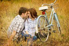 Engagement session Bike ride